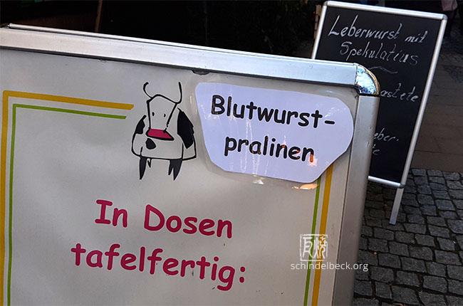 Blutwurstpralinen in Michelstadt - Foto: Frank Schindelbeck